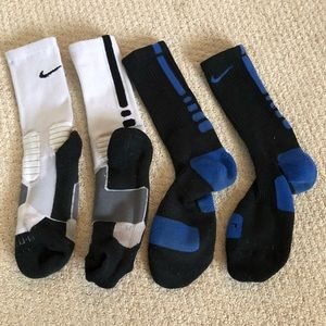 2 pairs Nike elite basketball socks